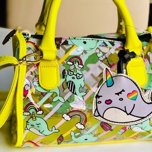 Betsey Neon Nerdy Narwhal bag